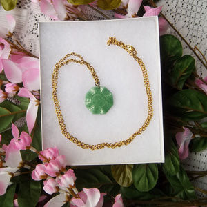 Jade Yin & Yang Gold-Tone Avon Necklace